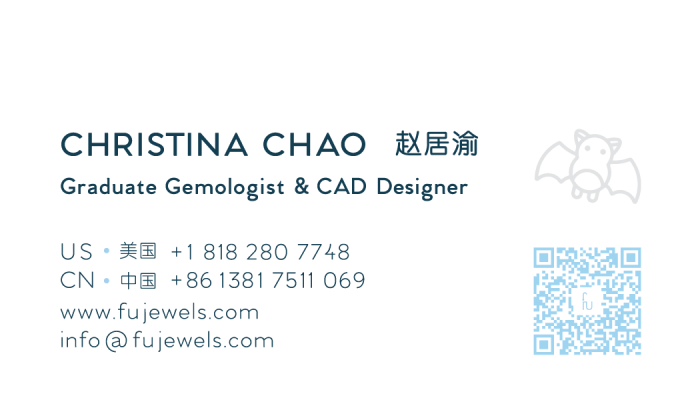 Fu Jewels Business Card Christina Chao