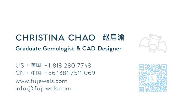 Fu Jewels Business Card Christina Chao