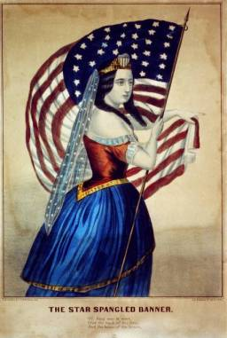 star spangled banner woman
