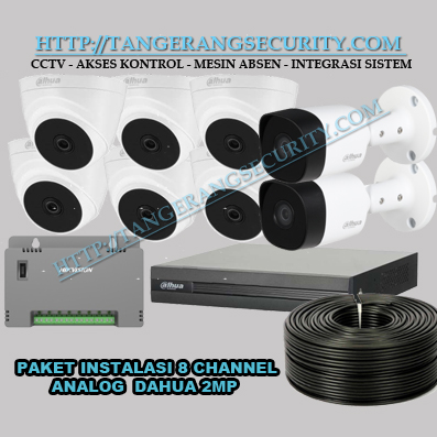 Instalasi CCTV Tangerang Paket Instalasi CCTV 8 Channel Dahua