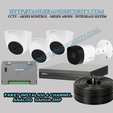 Instalasi CCTV Tangerang Paket Instalasi CCTV 4 Channel 5MP Dahua