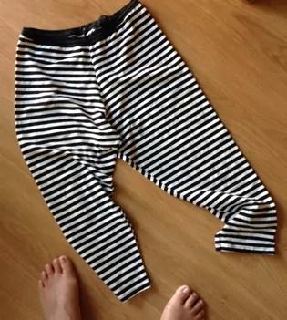 feet and stripy leggings photo
