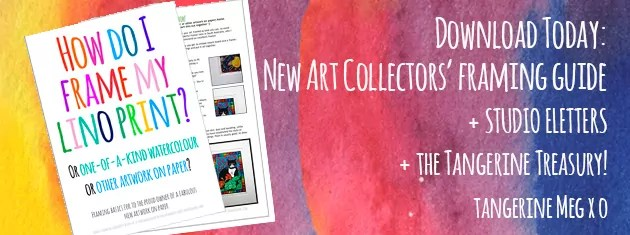 """Header image for """"Downloadable framing guide"""" for new art collectors"""