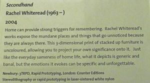 Rachel Whiteread label