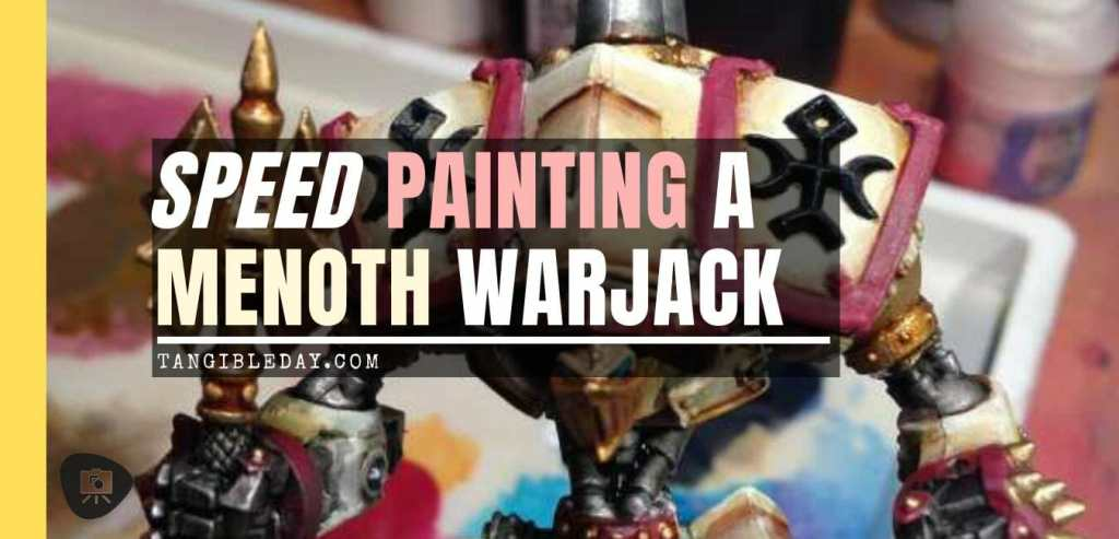Menoth Crusader Warjack: Quick n' Dirty Paint Job - how to paint a menoth warjack - painting the crusader menoth miniature - warmachine painting - painting warmachine models for menoth - banner