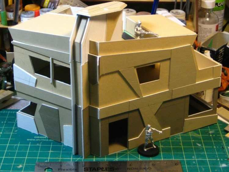3 Awesome Ways to Make Wargaming Terrain (Cheap, Easy, and Free) - low cost cheap DIY wargaming terrain for Warhammer 40k, Age of Sigmar, and other tabletop games, DND terrain making, dungeon and dragon terrain for RPG - paper terrain urban gaming environment