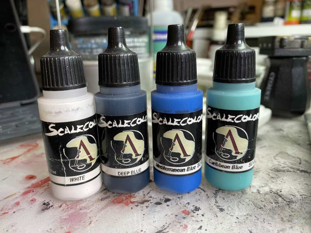 Colors for shading and painting a 3d printed heroforge miniature - Scalecolor 75