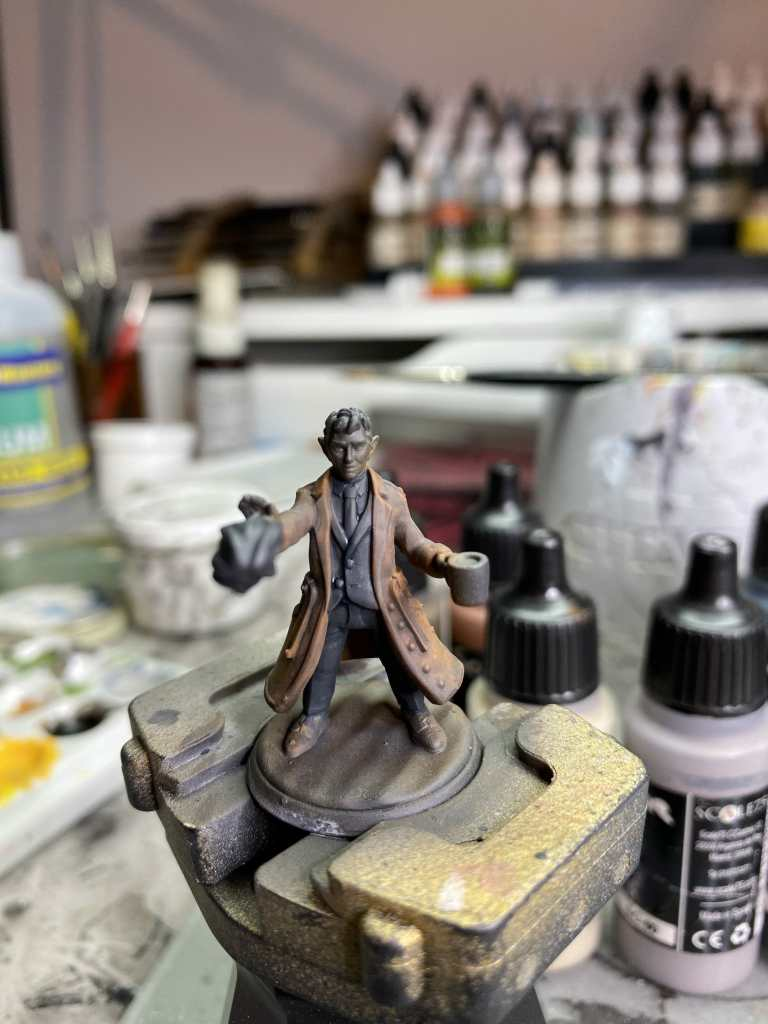 Adding contrast to a 3d printed miniature with temperature - scalecolor glazing