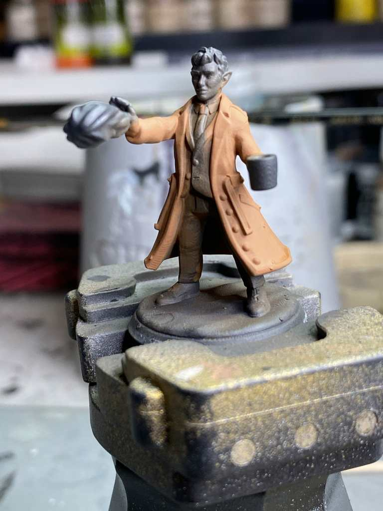 How to basecoat a 3d printed miniature - 2nd view