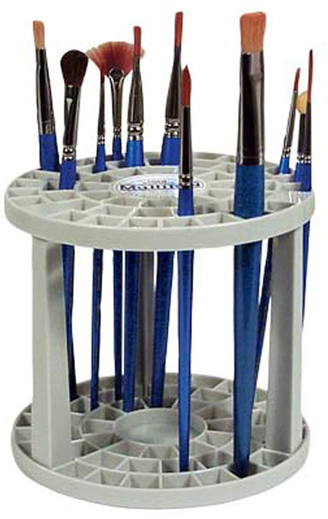 10 Fun Paint Brush Holders for Hobby Painters - Loew-Cornell multi-bin brush organizer - paint brush organizer and storage