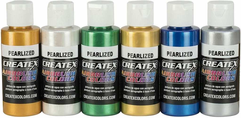 Pearlized Createx Paints (Badger) airbrush ready - best metallic paints for miniatures and models - Recommended metallics for painting minis