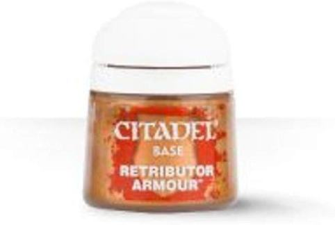 Games Workshop Citadel Base Paint Retributor Armor review - Must-have best metallic model paint for painting miniatures and models