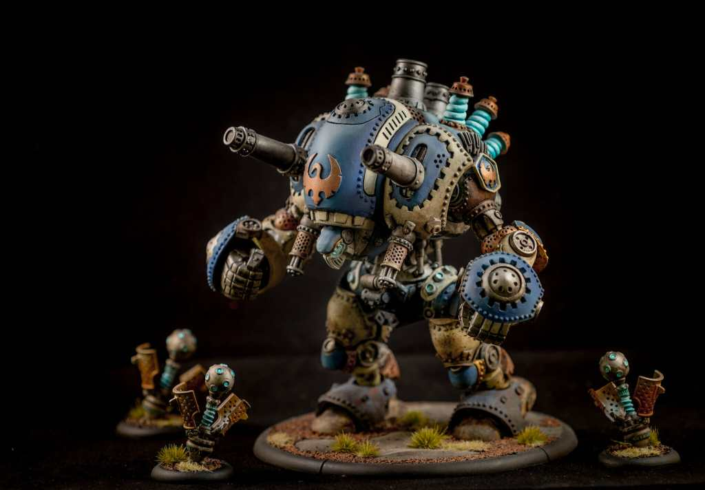 Stormwall colossal with metallic paint - Leadbelcher for weapon and gears - best metallic model paint for painting miniatures and models