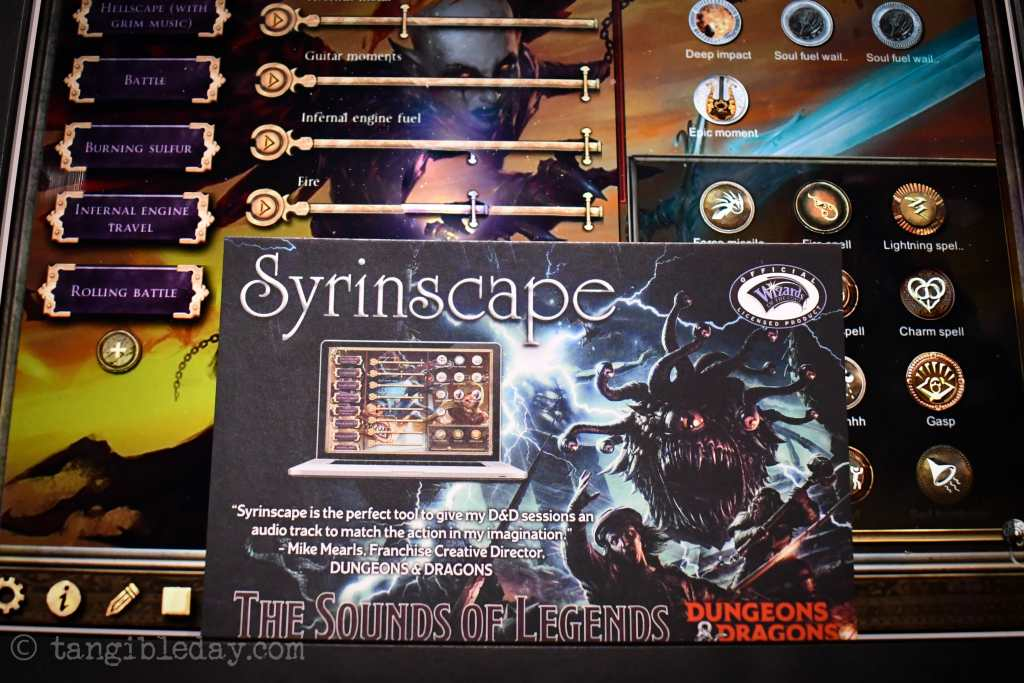 7 Cool Tabletop Gaming Products Showcased at Pax Unplugged - Unique RPG gaming swag and accessories - Syrinscape Ambient Sound Board review