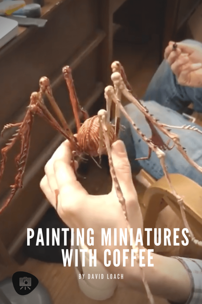 How to paint with coffee - painting miniatures with coffee - Kingdom Death painting board game tabletop painting