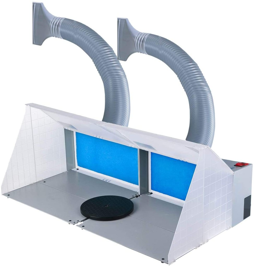 Top 10 best spray booths for airbrushing miniatures and models - Best spray booth for airbrush use and spraying scale models - airbrush spray booth recommendation with tips - Master Airbrush Dual Units Portable Hobby Craft Spray Booth review