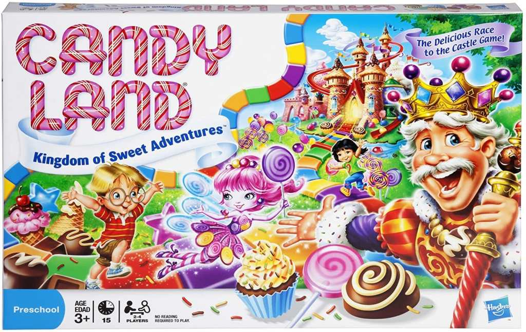 "Is Candy Land the ""Reality"" Game? - deconstructing candy land. Candy land the adult game for kids at heart - cover box art for candy land with the kandy king"