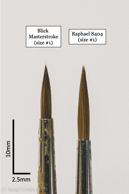 Best Alternative to Winsor & Newton Series 7 Brushes for Painting Miniatures - cheap sable kolinsky sable brushes for painting miniatures - good budget brushes for painting miniatures - blick masterstroke vs rapahel 8404