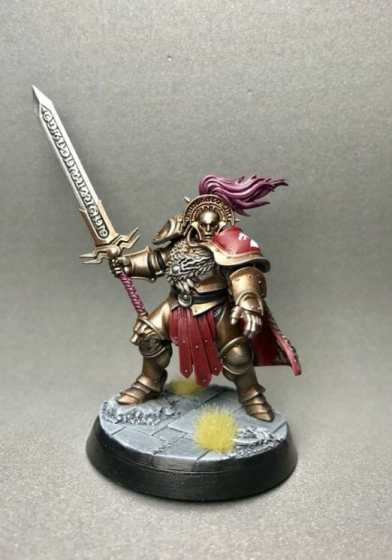 Stormcast Eternal Paint Schemes - 9 Color Motifs - how to paint stormcast eternals - color schemes for stormcast eternals, liberators, celestants, and other Age of Sigmar models from the Stormcast Eternal range - 9 color schemes for Stormcast Eternal models and miniatures from Citadel Games Workshop - Stormcast stormhost warrior with sword