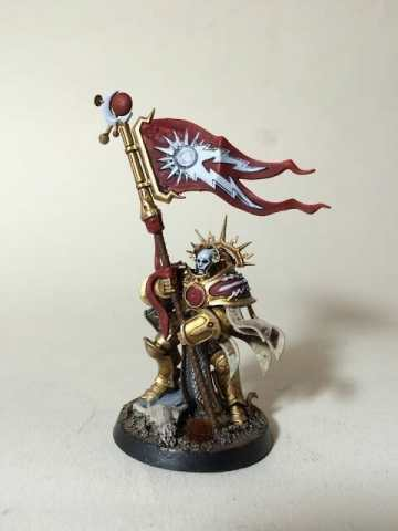 Stormcast Eternal Paint Schemes - 9 Color Motifs - how to paint stormcast eternals - color schemes for stormcast eternals, liberators, celestants, and other Age of Sigmar models from the Stormcast Eternal range - 9 color schemes for Stormcast Eternal models and miniatures from Citadel Games Workshop - Bannerman standard bearer