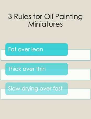 Best oil paints for miniatures and models - how to use oil paints for painting minis - miniature painting oils - painting miniatures with oil - best oil paint for miniature painting  - 3 key rules for painting miniatures with oil paints