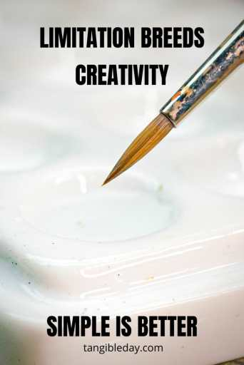 Creative limitation makes your art better - how to paint miniatures - banner - how to paint miniatures better - how to improve miniature painting - limitation breed creativity - how to be more creative - simple is better - here's how to paint with elegant simplicity