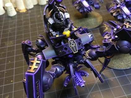 Necron Paint Schemes - 9 Color Motifs - how to paint Necrons - color schemes for Necrons, Necron Warriors, Sautekh or Zathanor Dynasty, and Necron dynasties - Indomitus Warhammer 40k Necron range color palette - 9 color schemes for Necron models and miniatures from Citadel Games Workshop - purple and gold accent