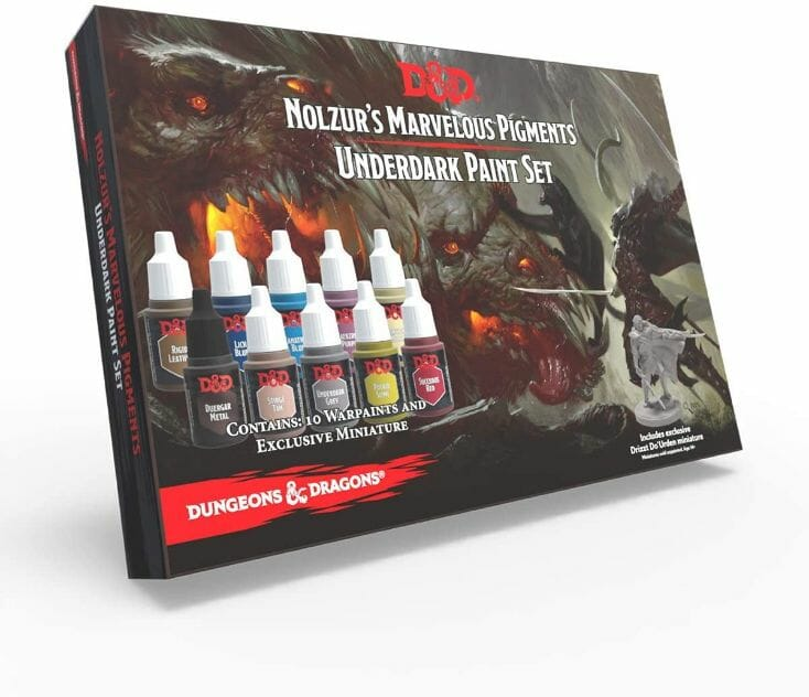 Top 10 best miniature paint set – best miniature paint sets review  – miniature painting kits and supplies - Dungeons and Dragons Underdark paint set review