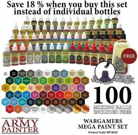 Top 10 best miniature paint set – best miniature paint sets review  –miniature painting kits and supplies - The Army Painter Wargames Mega Paint Set review