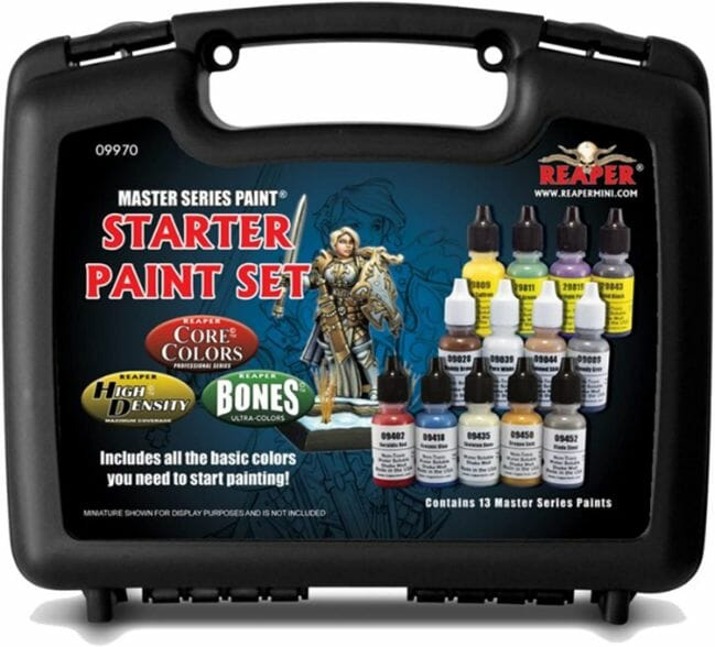 Top 10 best miniature paint set – best miniature paint sets review  – Where to begin painting tabletop wargaming miniatures – miniature painting kits and supplies - Reaper Paint Set
