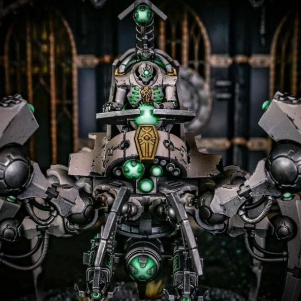 How to paint necrons simple easy fast - tutorial for painting necrons - necron paint schemes - necron color scheme - green dark grimdark color scheme - how do you all paint necrons how do you paint new necrons are necrons easy to paint - green lenses on necrons