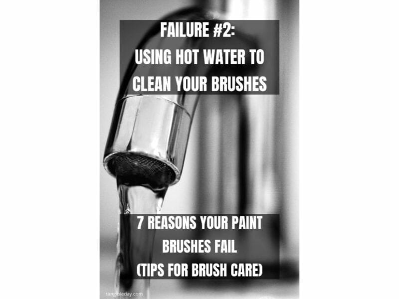 7 Reasons why brushes for miniature painting fall apart - reasons for paintbrush failure - ways to take care of your paint brushes - miniature paint brush care and maintenance - tips for brush care for modelers and hobbyists - paintbrush cleaning tips and care - dont use hot water on your brushes