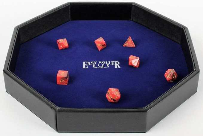 13 Best Dice Trays for Tabletop Games (Review) – best dice trays for wargaming – Warhammer dice tray and storage – best dice tray for Warhammer 40k and miniature games – boardgame dice tray – best dice trays – dice trays for dungeons and dragons, D&D, and roleplaying games (RPG) – Heavy Duty Dice Tray Leatherette and Velvet Rolling Surface