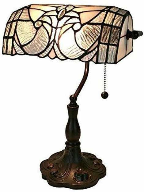 15 Cool Office Lamps for Any Workspace – cool desk lamps – cool lamps – office lamp ideas – unique desk lamps – best lamps for office work – unique office lamp - Banker light lamp tiffany style