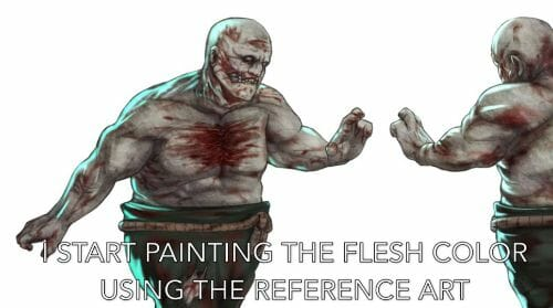 Painting a zombie RPG miniature with oil paints - painting RPG miniatures - oil painting miniatures - origin miniatures - how to paint rpg miniatures - how to paint dungeon and dragons miniatures - painting miniatures and models for role playing games - oil painting 28mm miniatures - close up reference
