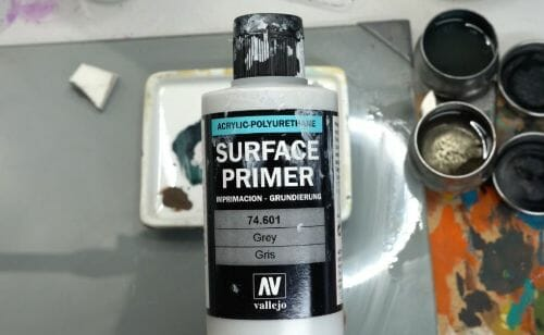 Painting a zombie RPG miniature with oil paints - painting RPG miniatures - oil painting miniatures - origin miniatures - how to paint rpg miniatures - how to paint dungeon and dragons miniatures - painting miniatures and models for role playing games - oil painting 28mm miniatures - primer