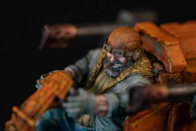 "Oil Painting ""Barnascus"" (Judgement Miniatures) - How to Paint Tips - Why paint miniatures with oil paint – Barnascus Judgement Miniature – Miniature painting with oil colors – tips for painting miniatures with oil paint – oil painting miniature tutorial – metallic oil paints - dwarf face"