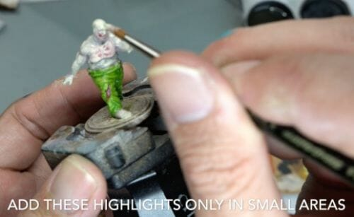 Painting a zombie RPG miniature with oil paints - painting RPG miniatures - oil painting miniatures - origin miniatures - how to paint rpg miniatures - how to paint dungeon and dragons miniatures - painting miniatures and models for role playing games - oil painting 28mm miniatures - paint in small areas