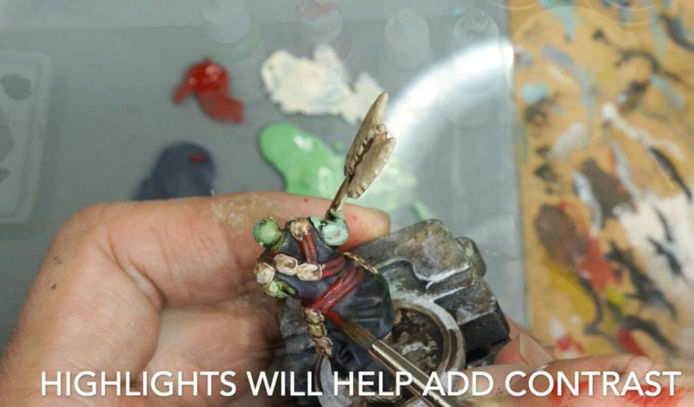 Speed painting tabletop miniatures - How to speed paint RPG miniatures and models - painting bulk dnd miniatures - how to paint models faster for tabletop games - 5 easy steps for painting miniatures fast - add highlights for better contrast