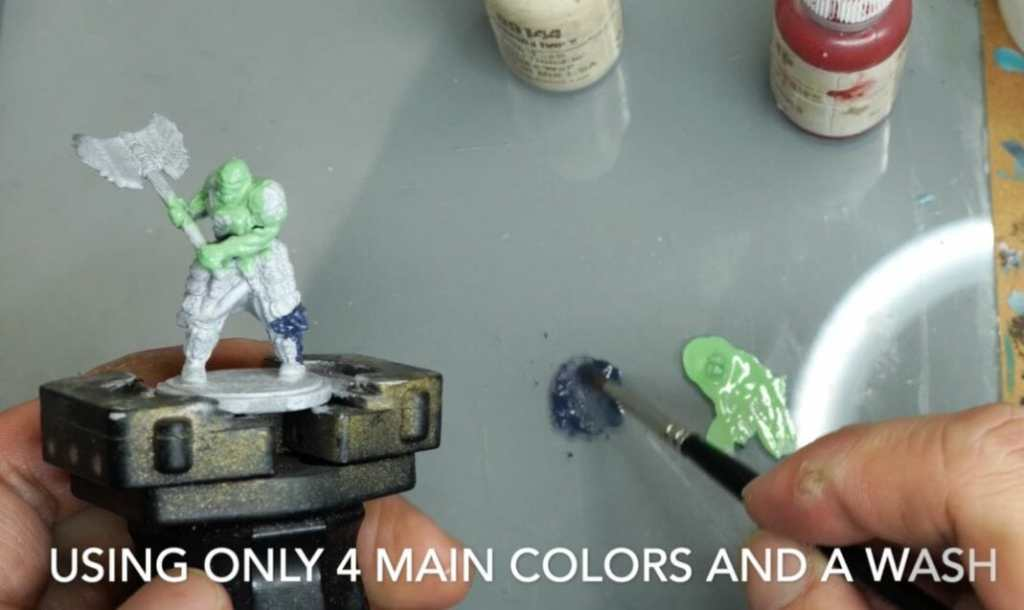 Speed painting tabletop miniatures - How to speed paint RPG miniatures and models - painting bulk dnd miniatures - how to paint models faster for tabletop games - 5 easy steps for painting miniatures fast - base your models with a few colors