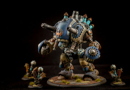 how to repaint used miniatures and models - repainting a used miniature - repainting a stormwall colossal - how to repaint used models -