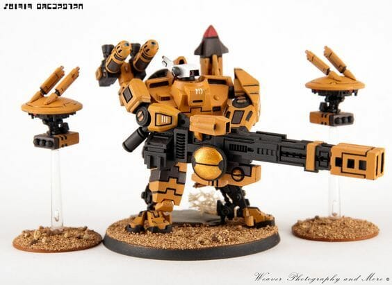 Tau sept color schemes, caste color schemes for Tau, T'au paint color scheme ideas – Grimdark Tau style, Blachitsu Tau painting, how to paint Tau miniatures, Games Workshop Tau paint schemes – How to paint grimdark Tau – painting Blanchitsu Tau - classic tau
