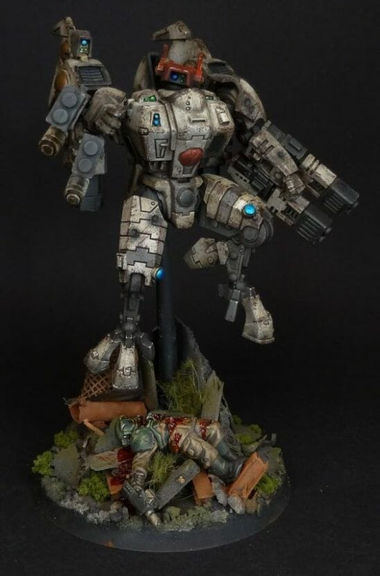 Tau sept color schemes, caste color schemes for Tau, T'au paint color scheme ideas – Grimdark Tau style, Blachitsu Tau painting, how to paint Tau miniatures, Games Workshop Tau paint schemes – How to paint grimdark Tau – painting Blanchitsu Tau - grim dark tau painting