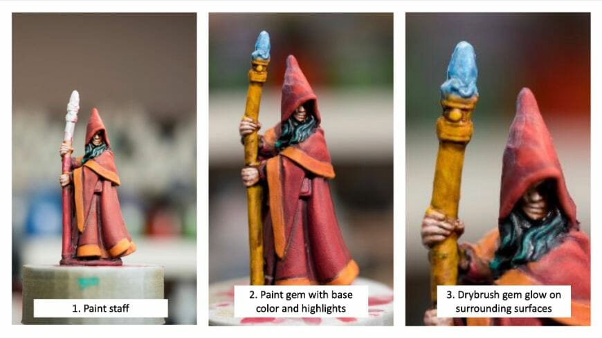 How to paint RPG miniatures for tabletop games in 10 easy steps - painting dnd models - rpg miniature painting - how to paint miniatures for dnd and roleplaying games RPGs - painting dungeon and dragon models - painting dnd minis - recommended varnishes for gaming miniatures - painting OSL and other effects