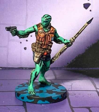 painting comic book miniatures - how to paint comic style miniatures - cel shaded miniature painting – how to paint cel shaded miniature – cell shaded miniature painting – miniature painting styles – how to paint cell shaded – borderlands miniature painting style – comic style painting - abe sapien hellboy miniature