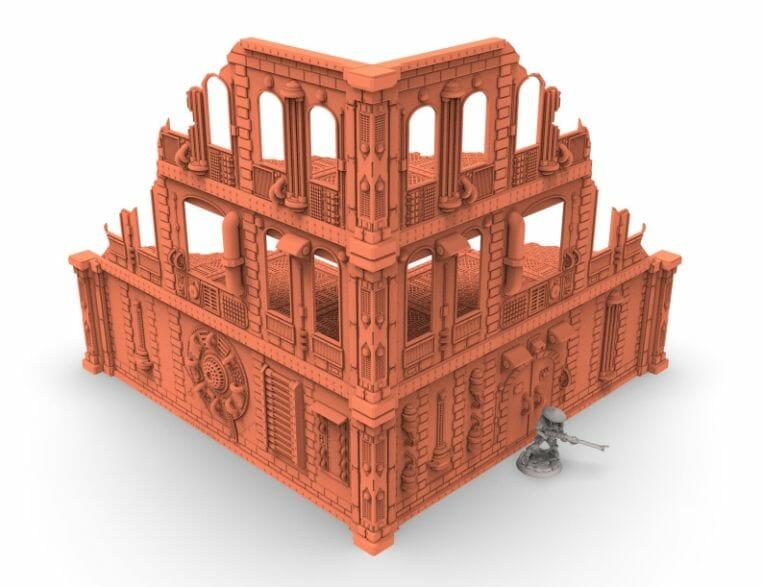 Best tabletop terrain on Etsy – Warhammer terrain – wargaming terrain – cool modular tabletop terrain – DIY wargaming terrain for 28mm games – RPG gaming terrain on Etsy - scifi wargaming modular industrial