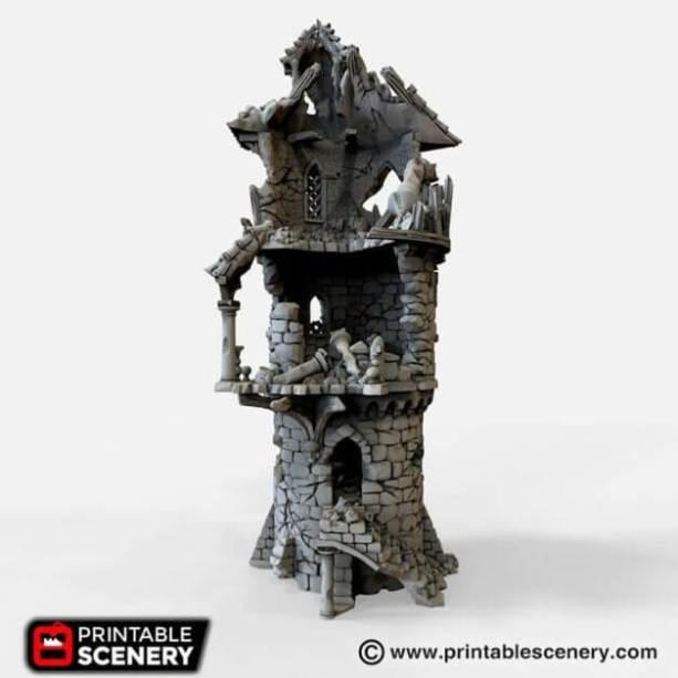 Best tabletop terrain on Etsy – Warhammer terrain – wargaming terrain – cool modular tabletop terrain – DIY wargaming terrain for 28mm games – RPG gaming terrain on Etsy - winterdale wizard tower mage