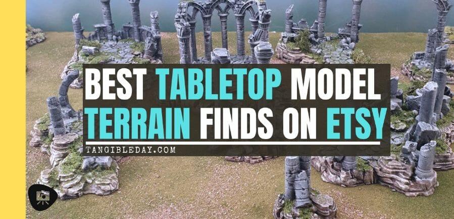 Best tabletop terrain on Etsy – Warhammer terrain – wargaming terrain – cool modular tabletop terrain – DIY wargaming terrain for 28mm games – RPG gaming terrain on Etsy - banner