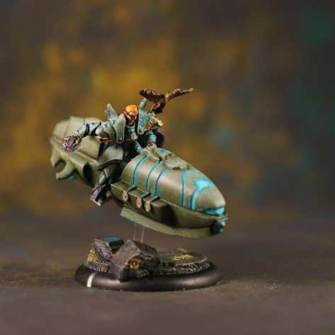 assembled and painted hover bike for vyros - 3D printed isometric