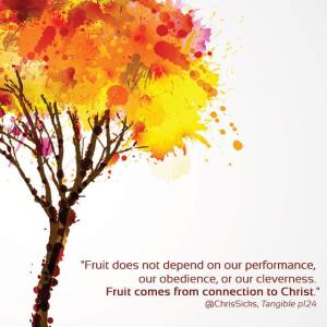 Fruit depends on our connection to Christ